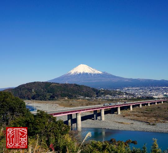 冬 富士山 富士サービスエリア