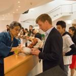 日本茶セミナーでのお茶の試飲