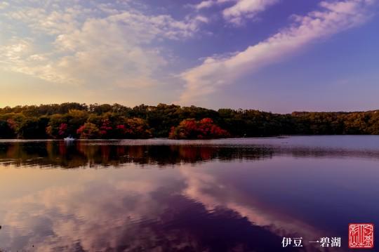 一碧湖 夕焼け